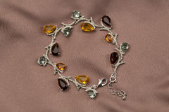Precious bracelet with stones Royalty Free Stock Photography