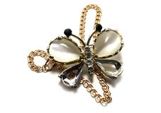 Precious brooch butterfly Royalty Free Stock Photos