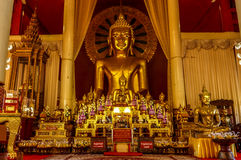 Precious Buddha Altar with countless buddhas Royalty Free Stock Images