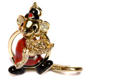 Precious charm as the mouse. On a white background is isolated Royalty Free Stock Image