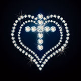 Precious cross and heart. Stock Image