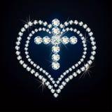 Precious cross and heart. Stock Image
