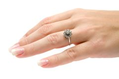 Precious Diamond Ring Royalty Free Stock Photo