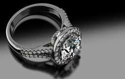 Precious Diamond Ring Stock Images