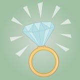 Precious diamond ring. Illustration of a precious diamond ring Royalty Free Stock Image