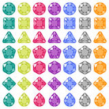 Precious gems. Flat icons set Stock Photo