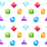 Precious gems seamless pattern Royalty Free Stock Photography