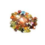 Precious gems on  white Royalty Free Stock Photo