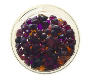 Precious gemstones. Laboratory samples (almandine and spinel royalty free stock photography