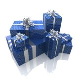 Precious gifts. 3d render of a group of presents with a sophisticated packaging Stock Photo