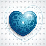 Precious heart in blue Royalty Free Stock Images