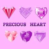 Precious Heart, vector illustration. Stock Photo