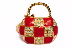 Precious ladies' handbag. As from gold, is inlaid with brilliants, certainly not present Royalty Free Stock Photography