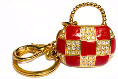 Precious ladies' handbag. As from gold, is inlaid with brilliants, certainly not present Stock Photography