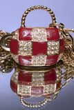 Precious ladies' handbag. As from gold, is inlaid with brilliants, certainly not present Royalty Free Stock Image