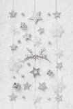 Precious and luxurious shabby chic white, grey and silver christ Stock Images