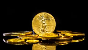 Precious metal, gold especially is the possibility to preserve wealth royalty free stock photography