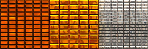 Precious metals Royalty Free Stock Images