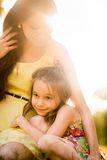 Precious moment - mother with child Royalty Free Stock Image