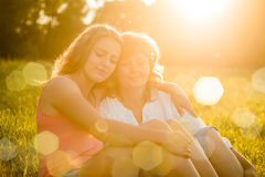 Precious moments - mother and daughter together Royalty Free Stock Image