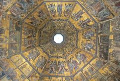Precious mosaics in the Baptistry of San Giovanni in Florence, Italy royalty free stock photography