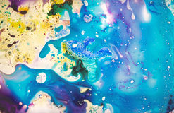 Precious pattern. Colorful, magical, fairy-tale texture diffluent paint Royalty Free Stock Image