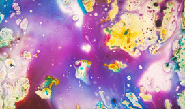 Precious pattern. Colorful, magical, fairy-tale texture diffluent paint Stock Image