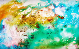 Precious pattern. Colorful, magical, fairy-tale texture diffluent paint Royalty Free Stock Photography