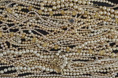 Precious pearls closeup Stock Images