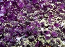 Precious purple amethyst mineral very rare Royalty Free Stock Images