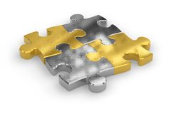 Precious puzzle pieces Stock Images
