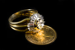 Precious ring with diamonds Stock Photo