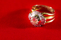 Precious ring with diamonds Royalty Free Stock Photos