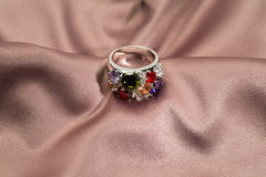 Precious ring with stones Royalty Free Stock Image