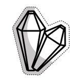 Precious rocks isolated icon Stock Photos