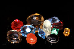 Precious and semiprecious stones Stock Photo