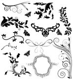 Precious set of decorative elements royalty free illustration