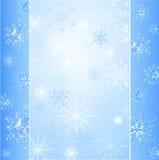 Precious snowflakes. Design with transparent precious ablaze snowflakes on a blue luminous background Vector Illustration