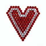 Precious Sparkling Rhinestones Red and Crystal Colors, Folded He Stock Image