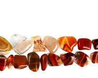 Precious stones. Collection of beautiful precious stones against white background royalty free stock image