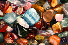 PRECIOUS STONES. Collection of beautiful precious stones Stock Photos
