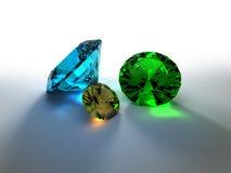 Precious stones 3D render Stock Photo