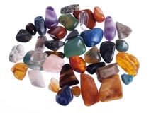 Precious Stones. Isolated studio photo of precious stones heap Royalty Free Stock Photo