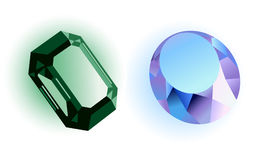Precious stones. Vector illustration, AI file included stock illustration