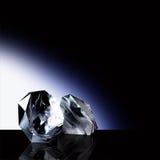 Precious Stones. 3D of 2 Precious stones in a Blue Light Surrounding Stock Photography
