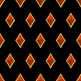Precious stones on black background seamless pattern. Vector ill Stock Photography