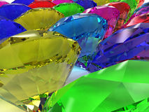 Precious stones of different colors �2 Royalty Free Stock Image