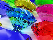 Precious stones of different colors №1 Stock Images