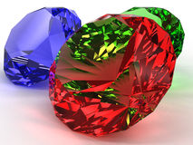 Precious stones of different colors �6 Royalty Free Stock Photo