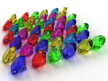 Precious stones of different colors �12 Stock Photos